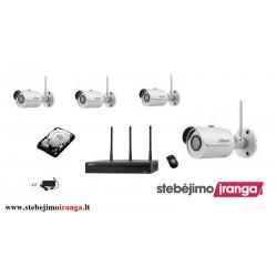 4 WIFI lauko/vidaus kamerų sistema 3MP