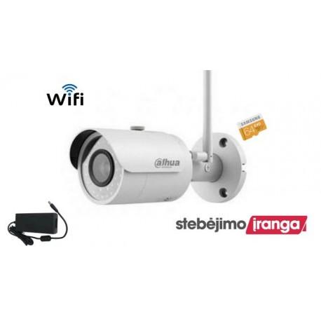 4MP Wifi kamera įrašinėjanti į kortelę