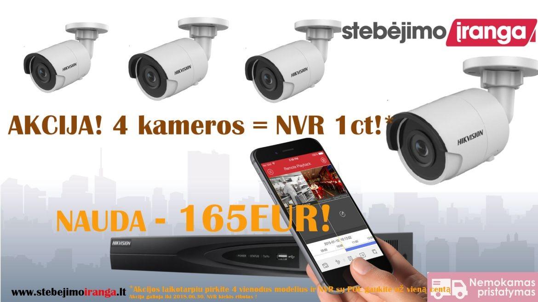 4 kameros = NVR 1ct