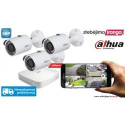 3 lauko/vidaus kamerų sistema 5MP