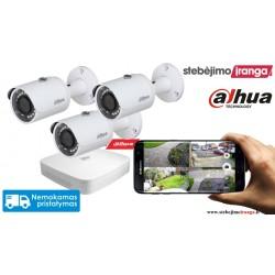 3 lauko/vidaus kamerų sistema 4MP