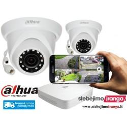 2 lauko/vidaus kamerų sistema 4MP