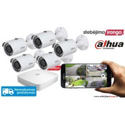 5 lauko/vidaus kamerų sistema 4MP