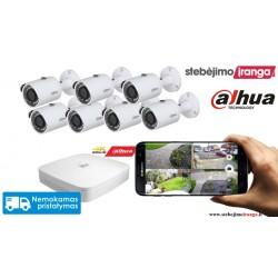 7 lauko/vidaus kamerų sistema 4MP
