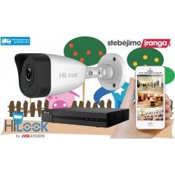 1 lauko/vidaus kameros sistema 5MP