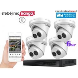 4 lauko/vidaus kamerų sistema 6MP