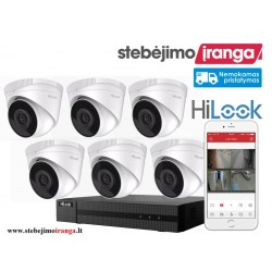 6 lauko/vidaus kamerų sistema 2MP