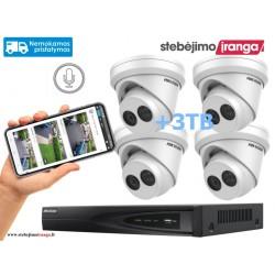 4 lauko/vidaus kamerų sistema 8MP