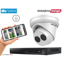 1 lauko/vidaus kameros sistema 8MP