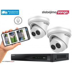 2 lauko/vidaus kamerų sistema 8MP