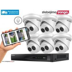 6 lauko/vidaus kamerų sistema 8MP