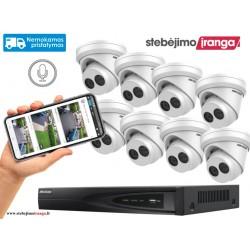 8 lauko/vidaus kamerų sistema 8MP