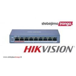 8 prievadų, 8 PoE komutatorius Hikvision DS-3E0109P-E(C)